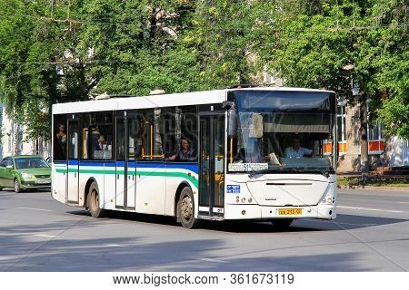 Ufa, Russia - June 25, 2012: White Urban Bus Nefaz 52997 (vdl Transit) In The City Street.