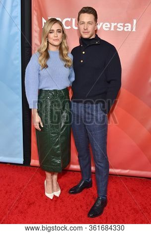 LOS ANGELES - JAN 11:  Melissa Roxburgh and Josh Dallas on the red carpet at the NBCUniversal Winter TCA 2020 on January 11, 2020 in Pasadena, CA