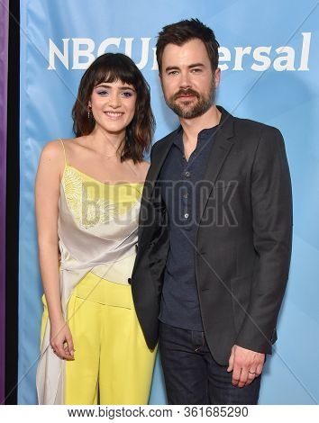 LOS ANGELES - JAN 11:  Luna Blaise and Matt Long on the red carpet at the NBCUniversal Winter TCA 2020 on January 11, 2020 in Pasadena, CA