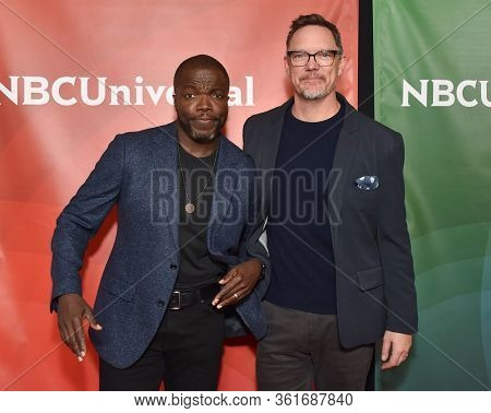 LOS ANGELES - JAN 11:  Reno Wilson and Matthew Lillard on the red carpet at the NBCUniversal Winter TCA 2020 on January 11, 2020 in Pasadena, CA