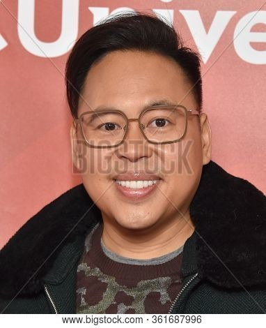 LOS ANGELES - JAN 11:  Nico Santos on the red carpet at the NBCUniversal Winter TCA 2020 on January 11, 2020 in Pasadena, CA