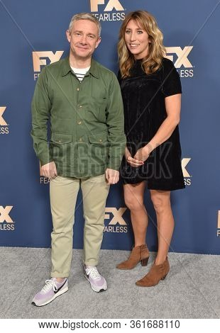 LOS ANGELES - JAN 09:  Daisy Haggard and Martin Freeman {Object} arrives for 'The Way Back' World Premiere on January 09, 2020 in Los Angeles, CA
