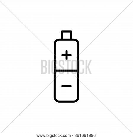 Battery Icon Vector. Simple Flat Symbol. Accumulator Outline Icon.