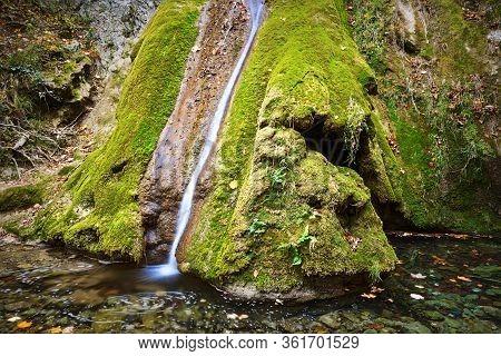 Susara Beautiful Waterfall In Autumn, Anina Moutains
