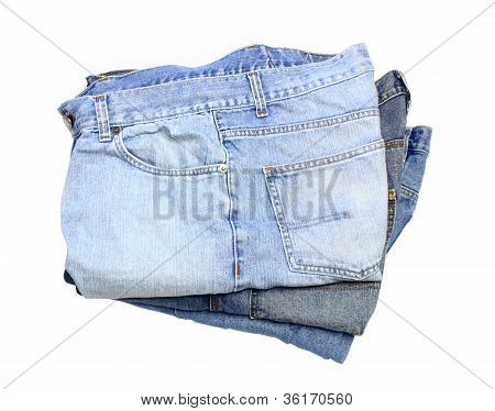 Three Pairs Of Blue Jeans