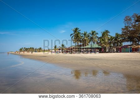 Serrekunda, The Gambia - November 22, 2019: Beach Near The Senegambia Hotel Strip In The Gambia, Wes