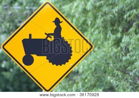 Farming Road Sign