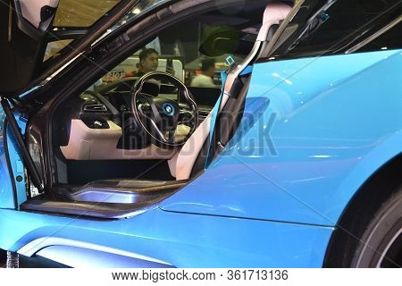 Pasay, Ph - July 28: Bmw I8 At Bumper To Bumper Prime Car Show On July 28, 2019 In Pasay, Philippine
