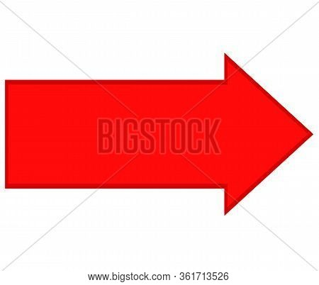 Red Arrow Direction Icon On White Background. Flat Style. Red Arrow Icon For Your Web Site Design, L