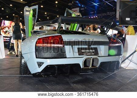 Pasay, Ph - July 28: Lamborghini Super Car At Bumper To Bumper Prime Car Show On July 28, 2019 In Pa