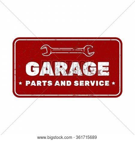 Garage Vintage Rusty Metal Sign, Car Repair Service Plate, Garage Door Plaque
