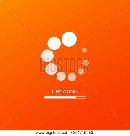 Update Icon Or Software Update. Downloading Data Concept Simple Design On Isolated Background. Eps 1
