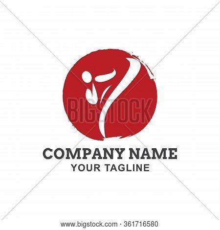 Karate Logo Template Vector Illustration,karate Logo Design . Taekwondo Logo Fight Design Vector
