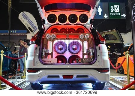 Pasay, Ph - July 28: Customized Sound Speaker System Of Mitsubishi Xpander At Bumper To Bumper Prime