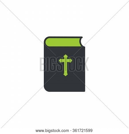 Bible Book Icon. Mission, Bible Society. Stock Vector Illustration Isolated On White Background.