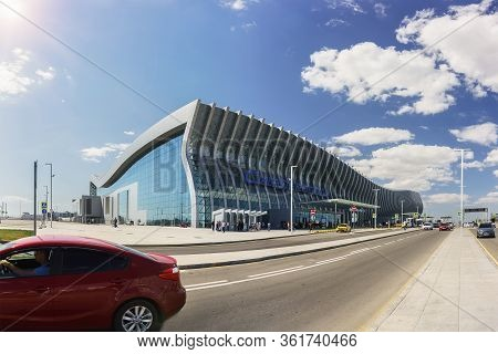 Simferopol, Crimea, Russia-september 13, 2019: New Modern Aivazovsky Air Terminal In Simferopol, Cri