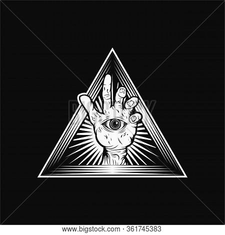 Zombie Hand Triangle Vector Illustration Amazing Design For Your Company Or Brand