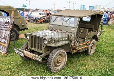 Moscow, Russia - July 6, 2012: American Light Military Vehicle Willys Mb Exhibited At The Annual Mot