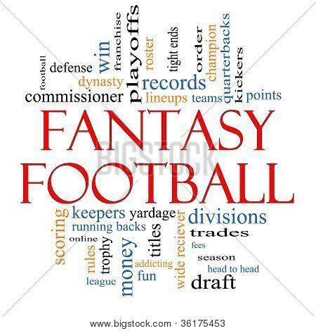 Fantasy Football Word Cloud Concept