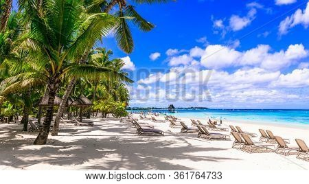 best beaches and tropical holidays of Mauritius island. Trou aux biches.