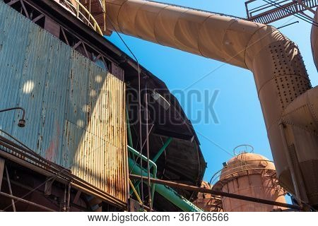Sloss Furnaces National Historic Landmark, Birmingham Alabama Usa, Variety Of Shapes And Textures, R