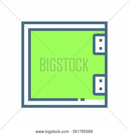 Partition Wall Or Divide Space Equipment Vector Icon Design On White.