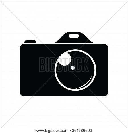 Photo Camera Icon On White Background, Photo Camera Icon Eps10, Photo Camera Icon Vector, Photo Came