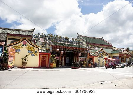 Pattani, Thailand - August 16 : View Landscape Of Leng Chu Kiang Or Chao Mae Lim Ko Niao Chinese Shr