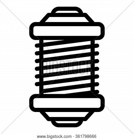 Fishing Reel Tool Icon. Outline Fishing Reel Tool Vector Icon For Web Design Isolated On White Backg