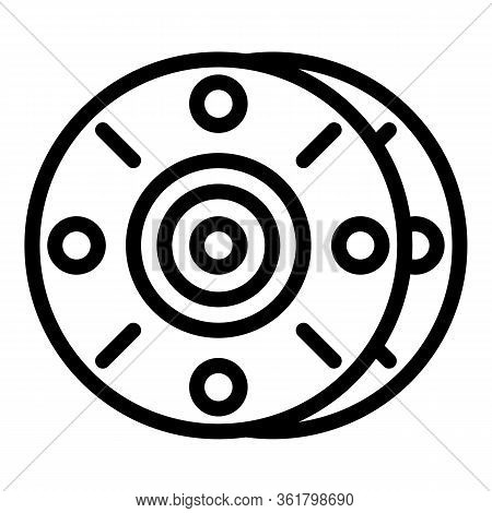 Fisherman Reel Icon. Outline Fisherman Reel Vector Icon For Web Design Isolated On White Background