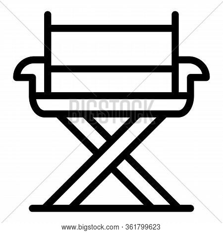 Camp Portable Chair Icon. Outline Camp Portable Chair Vector Icon For Web Design Isolated On White B