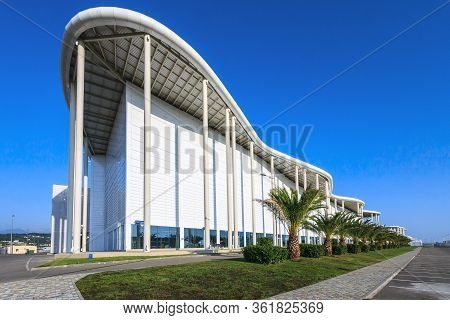 Sochi, Russia - September 1, 2014: New Modern Building Of The Main Olympic Media Center Is Now The V