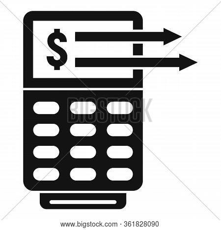 Money Transfer Terminal Icon. Simple Illustration Of Money Transfer Terminal Vector Icon For Web Des