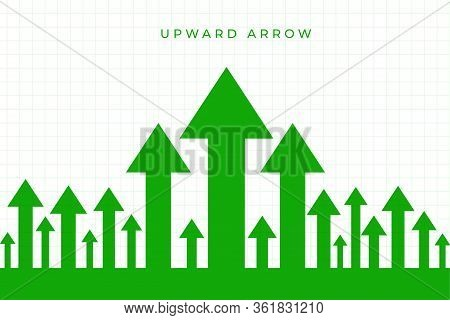 Upward Moving Growth Green Arrow Business Background