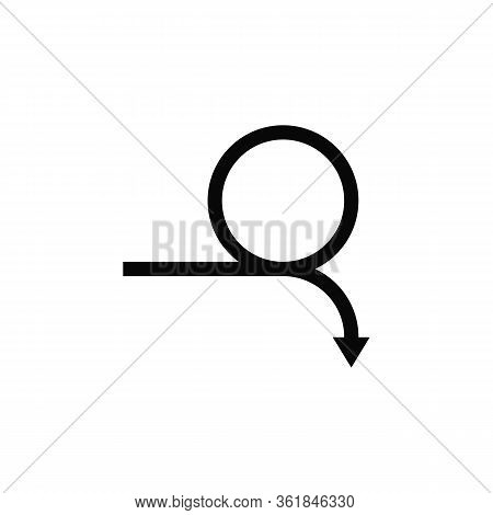 Curved Arrow. Full Rotation. 360 Degrees. Refresh Repeat Symbol Vector