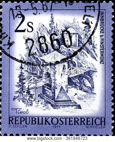 02 10 2020 Divnoe Stavropol Krai Russia The Postage Stamp Austria 1974 Landscapes Of Austria Alte In