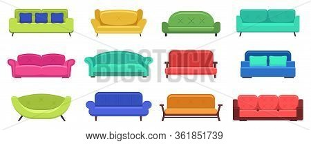Modern Sofas. Comfortable Modern Apartment Couch, Cozy Sofas, House Couch Furniture, Domestic Sofas