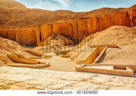 Valley Of Kings. The Tombs Of The Pharaohs. Tutankhamun. Luxor. Egypt. Ancient Monument Of Architect