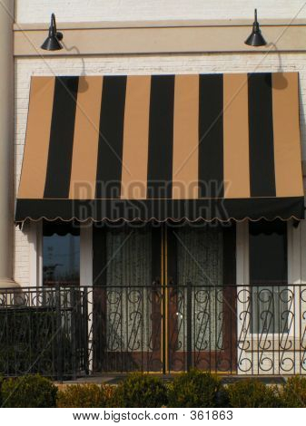 French Doors And Awning
