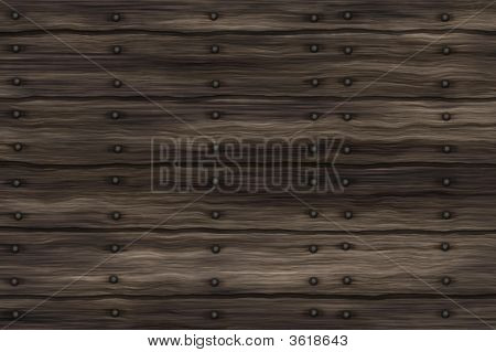 Rows Of Planks Nailed Together