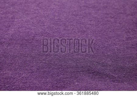 Purple Fabric Texture Minimalist Background. Colorful Cotton Material Cloth Pattern, Pale Violet Tex