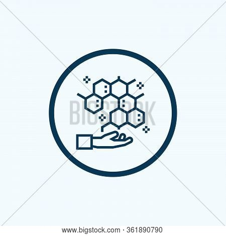 Molecular Icon Isolated On White Background From Science Collection. Molecular Icon Trendy And Moder