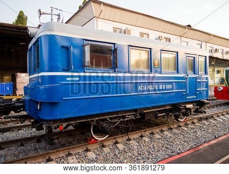 Voronezh, Russia - August 29, 2019: Railway Railcar As-1a, Retro-exhibition Of Railway Equipment,  V