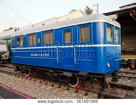 Voronezh, Russia - August 29, 2019: Autotrix Type Ac-1a, Retro-exhibition Of Railway Equipment, Voro