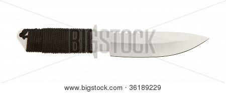 Sharpened Metal Blade With Braided Handle