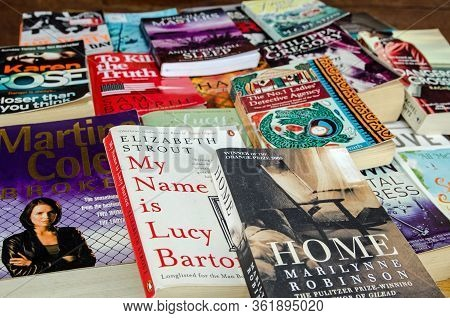 Castara, Trinidad And Tobago - January 12, 2020: Selection Of Popular Paperbacks, Suitable For Holid
