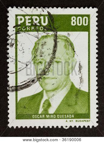 Peru - Circa 1980: Stamp Printed In The Peru