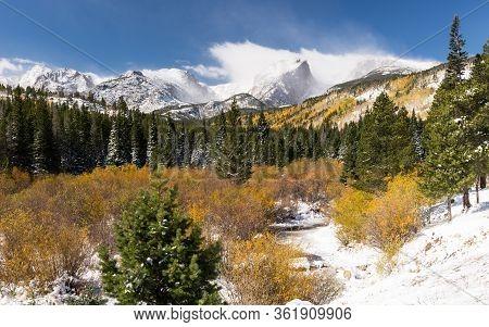 13,153 Foot Taylor Peak 12,486 Foot Otis Peak, 12,713 Foot Hallet Peak And 12,324 Foot Flattop Mount