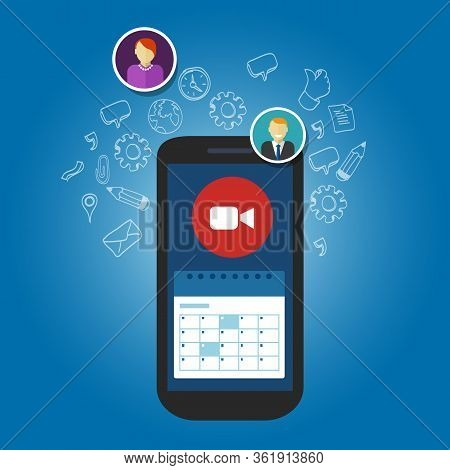 Video Call Schedule Business Meetings In Smartphone