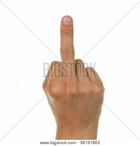 Man Showing His Middle Finger